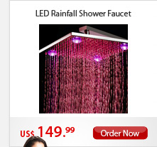 LED Rainfall Shower Faucet