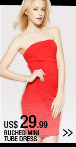 Ruched Mini Tube Dress