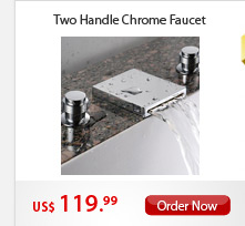 Two Handle Chrome Faucet