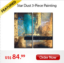 Star Dust 3-Piece Paintings