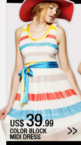 Color Block Midi Dress