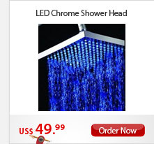 LED Chrome Shower Head