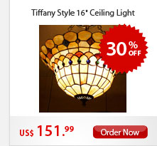 "Tiffany Style 16"" Ceiling Light"