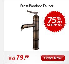 Brass Bamboo Faucet
