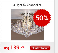 3 Light K9 Chandelier