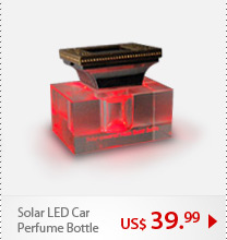 Solar LED Car Perfume Bottle