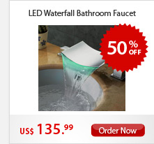 LED Waterfall Bathroom Faucet