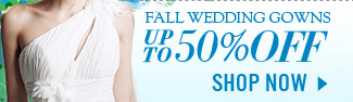 Fall Wedding Gowns Up To 50% Off