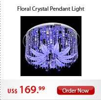 Floral Crystal Pendant Light