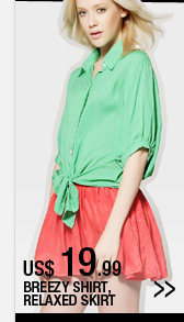 breezy shirt relaxed skirt