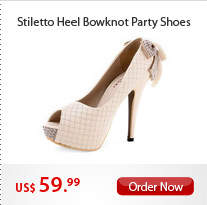 Stiletto Heel Bowknot Party Shoes