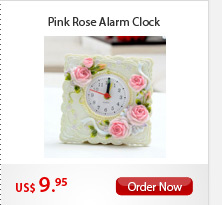 Pink Rose Alarm Clock