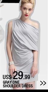 Grey One Shoulder Dress