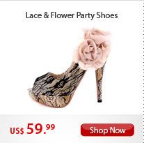 Lace & Flower Party Shoes