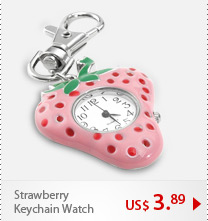 Strawberry Keychain Watch