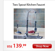 Two Spouts Kitchen Faucet