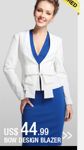 Bow Design Blazer