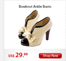 Bowknot Ankle Boots