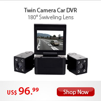 Twin Cameras Car DVR