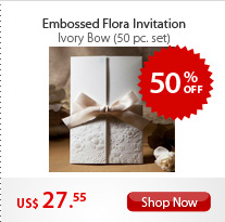 Embossed Flora Invitation