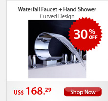 Waterfall Faucet + Hand Shower