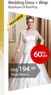 Wedding Dress + Wrap