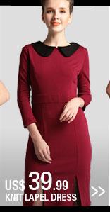Knit Lapel Dress