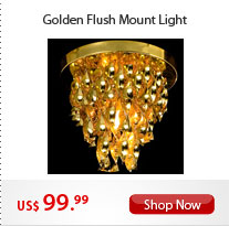 Golden Flush Mount Light