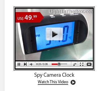 Spy Camera Clock