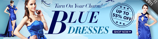 Turn On Your Charm! Blue Dresses Up To 55% OFF
