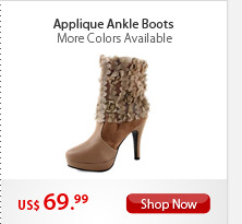 Applique Ankle Boots