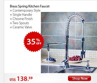 Brass Spring Kitchen Faucet
