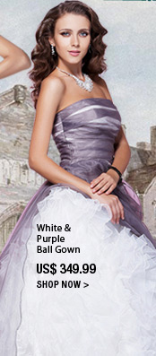 White & Purple Ball Gown