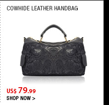 Cowhide Leather Handbag