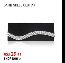 Satin Shell clutch