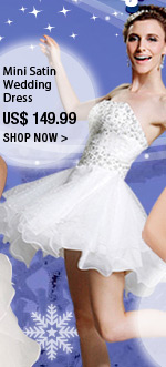 Mini Satin Wedding Dress