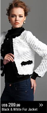 Black&White Fur Jacket