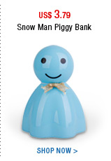Snow Man Piggy Bank