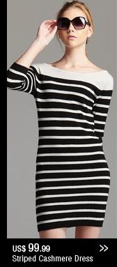 Stripes Cashmere Dress