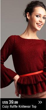 Cozy Ruffle Knitwear Top