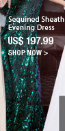 Sequined Sheath Evening Dress