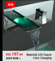 Waterfall LED Faucet Color Changing