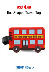 Bus Shaped Travel Tag