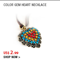 Color Gem Heart Necklace