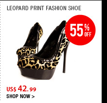 Leopard Print Fashion Shoe