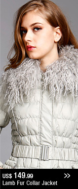 Lamb Fur Collar Jacket