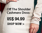 Off The Shoulder Cashmere Dress
