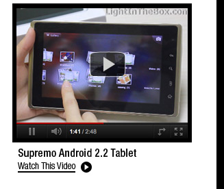 Supremo Android 2.2 Tablet