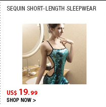 Sequin Short-Length Sleepwear