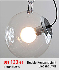 Bubble Pendant Light Elegant Style